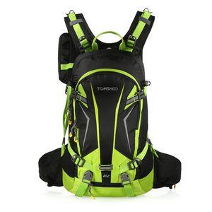 Fahrradrucksack 20L mit Wasserdichte Abdeckung und Helmabdeckung Sportrucksack Damen Herren Rucksack für Radfahren Reiten Bergsteigen