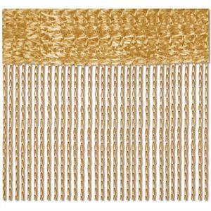 2er Pack Fadenvorhang, Größe: 90x240, Farbe: Gold