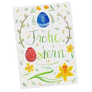 Mr. & Mrs. Panda Grußkarte, Karte, Postkarte Frohe Ostern mit Spruch