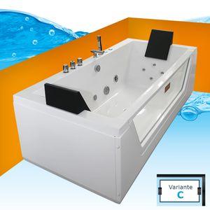 AcquaVapore Whirlpool Pool Badewanne Wanne A1813NC mit Reinigungsfunktion 185x90 ohne +0.-€