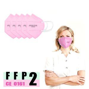 20xErwachsene FFP2 zmaske(Rosa), 5-Schicht-Filtration Einwegschutzmaske,CE 0161