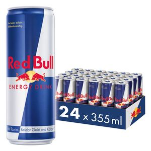 [6,00 € Pfand inklusive] Red Bull Energy Drink 24 x 355 ml Dosen Getränke, 24er Palette