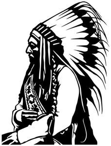 Wandtattoo Indianer Western Indian Mann Häuptling Aufkleber Wandaufkleber Autoaufkleber Turaufkleber WC Tur Bad Auto 5A077, Farbe:Pink glanz, Hohe:70cm