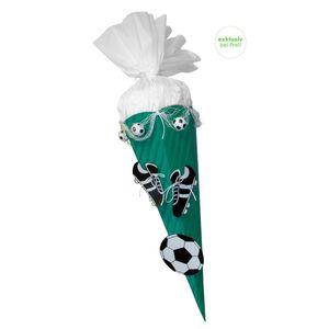 Schultüte Bastelset Fußball grün-weiß