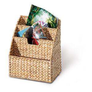 Zeitschriftenkorb aus Wasserhyazinthe, Zeitungskorb, Zeitungsständer, natur