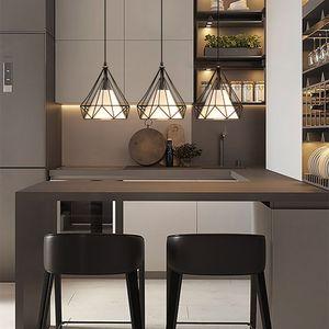Deckenleuchte Hängelampe Pendelleuchte Deckenlampe Vintage Lampe für Living Hall Decke 3 flammig
