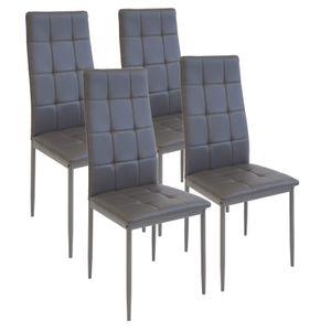 Esszimmerstühle RIMINI, 4-er SET, Grau