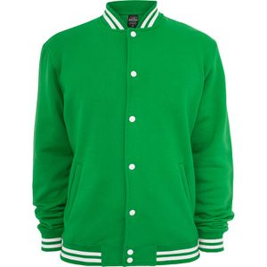 Urban Classics College Sweatjacket, Farbe:c.green, Größe:S