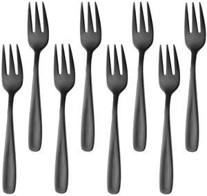 Kuchengabeln 8 Stück, klein aus Edelstahl, 8er Pack Kuchengabel Set