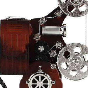 Mllaid Vintage-Filmprojektor-Spieluhr Schmuck-Spieluhr mit MakeUp-Spiegel Retro-Filmprojektor-Form-Organizer mit personalisierbarem Musikkoffer für Geburtstag Home Decor Desktop Ornament