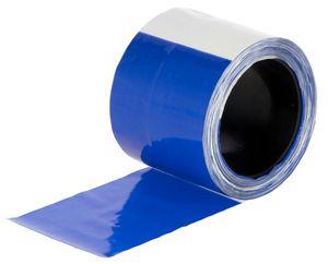 2 Stück Herdenschutzband blau/weiß, geblockt, 80mm, 100 m Rolle für WolfNet Vario