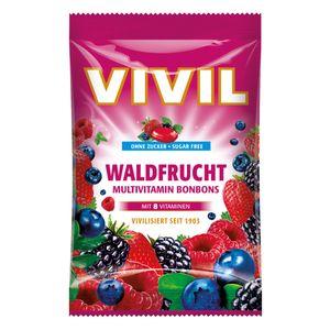 Vivil Waldfrucht Multivitaminbonbons mit 8 Vitaminen ohne Zucker 88 g
