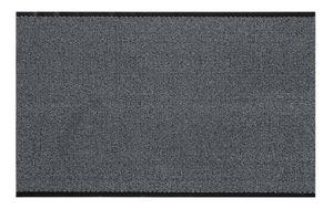 Fußmatte Meterware 120 x 150 cm Hellgrau Schmutzfangmatte Fußabtreter Sauberlaufmatte Türmatte Gummi