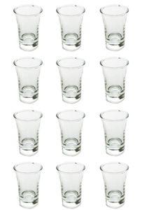 Schnapsgläser Shooter Stamper Glas klassische leichte V-Form 40 ml 12 Stück