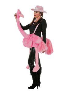 Damen Kostüm Zubehör Flamingo in rosa Karneval Fasching