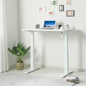 höhenverstellbares Tischgestell ohne Tischpaltte, Höhenverstellbarer Schreibtisch Elektrisch 3-Fach-Teleskop, Ergonomischer Steh-Sitz Tisch, Max.120 kg  Home Smart Office