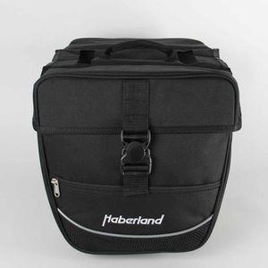 Haberland Doppeltasche Einsteiger schwarz, 30x32x13cm, 25 ltr