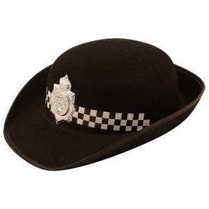 Henbrandt Frauen englischer Polizei Filz Hut. SG5650 (Einheitsgröße) (Schwarz)