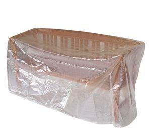 Abdeckhaube Tisch / Bank 160x75cm, PE transparent