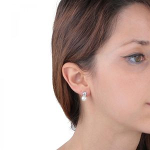 Damenohrringe, Länge: 1 cm - SANH04