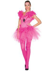Kostüm Kleid Flamingo Damen kurz Größe: 38