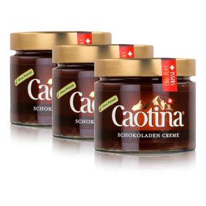 Caotina Schweizer Schokoladen Creme Brotaufstrich Creme Chocolat 300g (3er Pack)