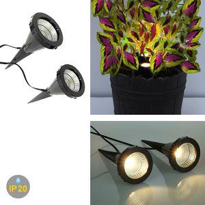 LED Pflanzenstrahler Jasmin 2er Set Kunststoff je 1,5W 75lm 2700K