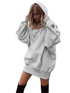 Damen Langarm Loose Casual Pullover T-Shirt,Farbe: grau,Größe:M