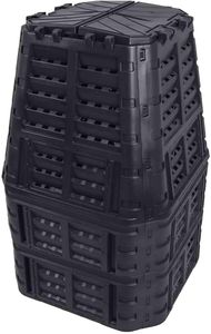 Komposter aus Kunststoff 1000L, Schnellkomposter mit Belüftungssystem, modular steckbar, für ideale Zersetzung 1000L