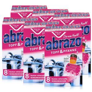 abrazo Topf & Pfanne Reinigungskissen - Die rosa Kraft (6er Pack)