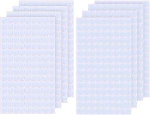 1008 Stück 10mm Klettpunkte Selbstklebend, 504 Paar Self Adhesive Klett Klebe Punkte, Starke Klebeeigenschaften, Klett Punkte für Papier, Kunststoff, Glas, Leder, Metall