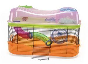 hamsterkäfig Fantasy 58 x 38,5 cm orange/rosa/grün