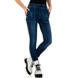 Ital-Design Damen Jeans High Waist Jeans Dunkelblau Gr.25