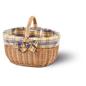 Einkaufskorb mit Ausschlag, Bügelkorb, Weidenkorb, Picknickkorb, Tragekorb