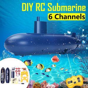 Mini U-Boot RC Boot DIY Submarine Schlachtschiff Unterseeboot Kinder Spielzeug