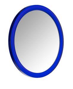 Wenko 20599100 Vergrößerungs-Kosmetikspiegel Pistoia, Kunststoff, 14,5 X 3,5 X 14,5 Cm, Blau