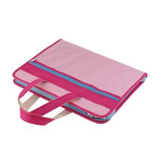 Oxford-Gewebe-Aktenkoffer Water Resisatant Tragetasche Business Bag Pink Rosa 36x28 cm