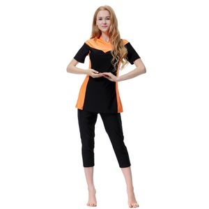 Mütze Top-Hose Badeanzug 3XL Orange Burkini