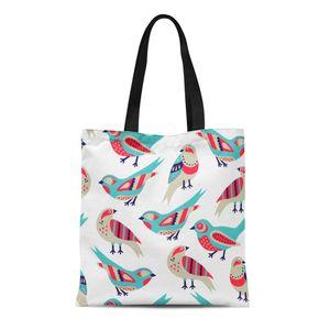 ABPHQTO Leinwand Einkaufstasche Baby Bird Retro lustige niedliche Variation Vintage abstrakte wiederverwendbare Schulter Lebensmittel Einkaufstaschen Handtasche