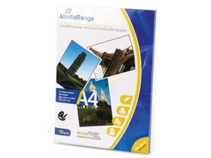 MediaRange - Hochglänzend - weiß - A4 (210 x 297 mm) - 135 g/m² - 100 Blatt Fotopapier