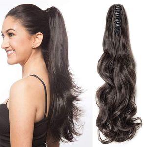 S-noilite Ponytail Extension Pferdeschwanz Haarteil Haarverlängerung Zopf Hair Piece Haar Voluminös Wavy wie Echthaar