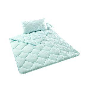 Bett-Set Tropicana Kopfkissen + Bettdecke 80x80 + 135x200 cm  | in 2  tropischen Farben | Microfaser Tropical-Türkis