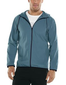 Coolibar - UV Sommerjacke met Kapuze für Herren - Hullen Hooded - Placid Blue, M