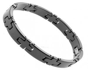 Boccia Ceramic Titan Armband schwarz 21 cm 0384-04