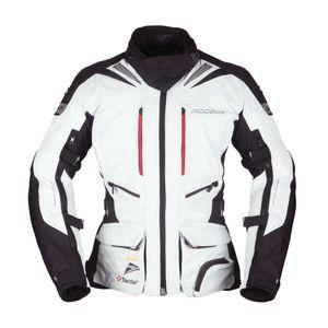 Modeka Panamericana Damen Motorrad Textiljacke Farbe: Hellgrau/Schwarz, Grösse: 36