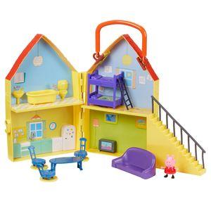 Peppa Pig - ein Falthaus mit einer Figur von Peppa Wutz Spielhaus Spielzeughaus