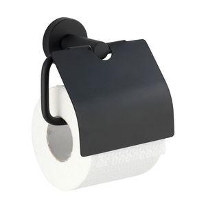 Toilettenpapierhalter Bosio Black matt mit Deckel