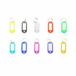 10x Schlüsselschilder Schlüsselanhänger zum selbst Beschriften Key Sign Schlüssel Schild verschiedene Farben Kofferanhänger Persönlich