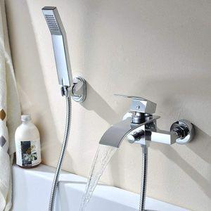 Badarmatur Duscharmatur Silber Elegant Wannenarmatur  Armatur Badewannenarmatur Badewannen  mit Handbrause Duschsysteme  Einhandmischer Wasserhahn für Bad Dusche