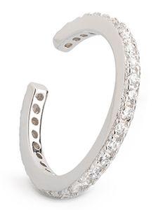 Xenox Damen Sterling Silber 925 Ear Cuff Ohr Klemme mit Zirkonia - Beach Trophies XS4213